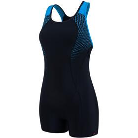 speedo Speedo Pro Legsuit Women Black/Winsdor Blue/White